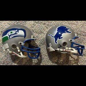 NFL Mini Helmet set DETROIT LIONS SEATTLE SEAHAWKS